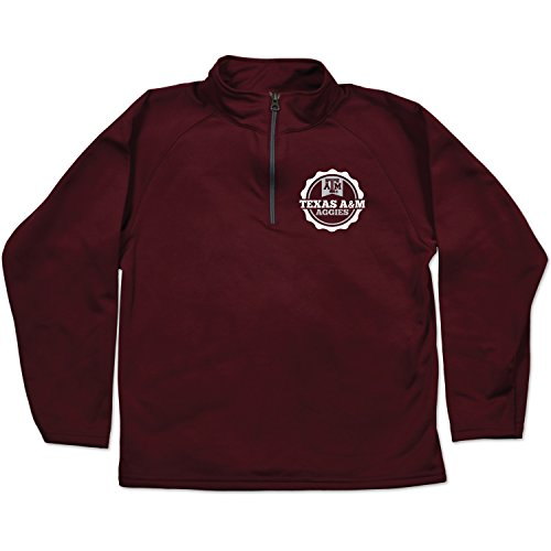 NCAA Texas A&M Aggies Youth Relay Quarter Zip Fleece, Size 10-12/Medium, Maroon