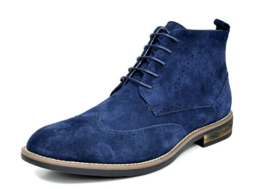 - Bruno Marc Men's URBAN-02 Navy Suede Leather Lace Up Oxfords Desert Boots Size 10.5 M US
