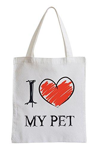 Amo il mio Pet Fun sacchetto di iuta