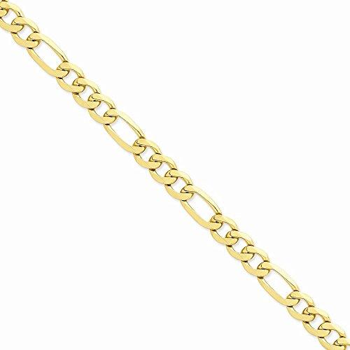 14k Yellow Gold 10mm Flat Figa