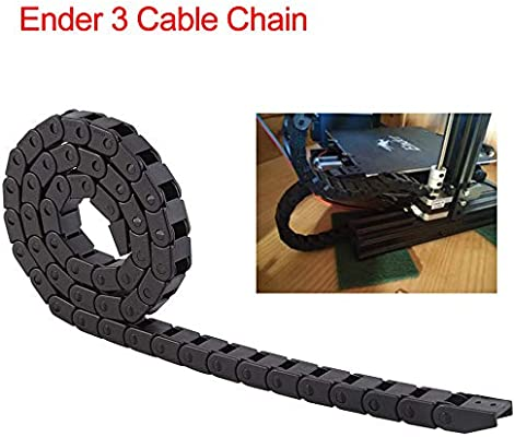 Amazon com: CCTREE Cable Drag Chain Wire Carrie 10mmx10mm Black
