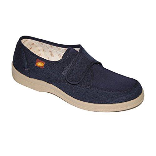 Chaussures de toile velcro pour pieds très délicats Doctor Cutillas en bleu marine