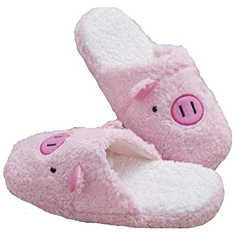 House Warm Women MiYang Cozy Animal Fleece Piggy Pink Slippers Cute Indoor x0x4awqY