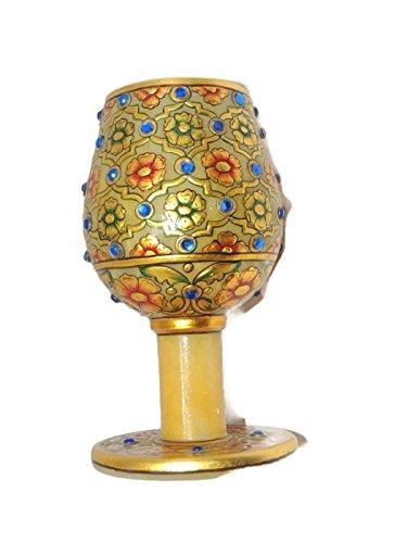Luxury Om Handicrafts Jaipur Handmade Marble Wine Glass For Christmas New Year Gift ()