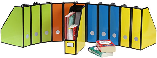 12 Pack - SimpleHouseware Magazine File Holder Organizer -