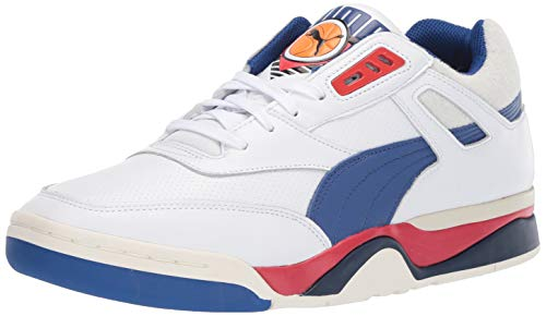 PUMA Palace Guard Sneaker, White-surf The Web-High Risk Red, 9.5 M US