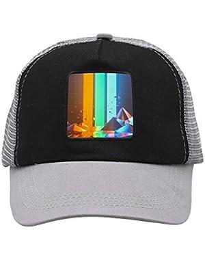 Unisex Colorful Lights Adjustable Classic Hiphop Hat Baseball Cap Snapback Dad Hat