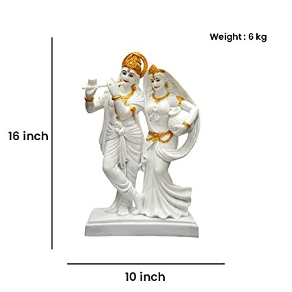 464dba4e75b Buy Niraj Art Premium Quality Marble Radha   Krishna Murti Idol Statue  Sculpture Online at Low Prices in India - Amazon.in