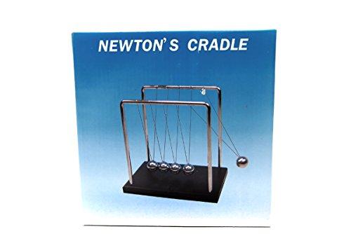 BlastCase Newton's Cradle Art in Motion, 7 1/4-Inch Balance Balls - Black Wooden Base
