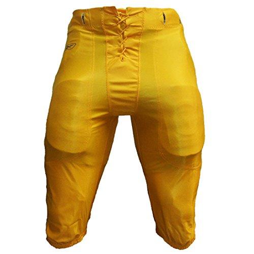 Dazzle Football Pants (Reebok Adult Dazzle Tunneled Football Pants (M, Light Gold))