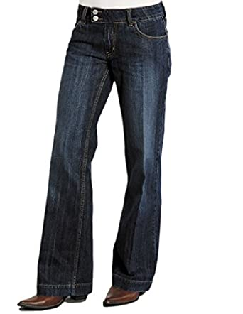 Stetson Women's 214 Fit City Dark Indigo Trouser Jeans - 11-054 ...