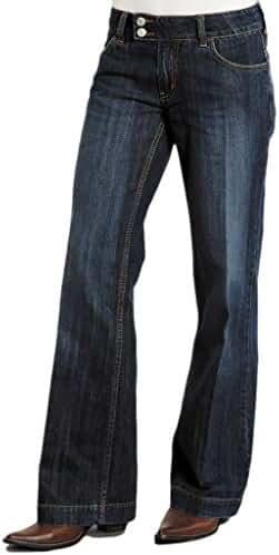 Stetson Women's 214 Fit City Dark Indigo Trouser Jeans - 11-054-0202-0030 Bu