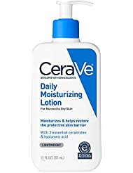CeraVe Daily Moisturizing Lotion | 12 Ounce | Face & Body Lotion for Dry Skin with Hyaluronic Acid | Packaging May Vary