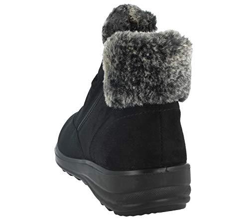 Size Cushion Faux Faux Ankle Comfort Ladies 8 Shoe Casual 3 Walk Lined Suede Boot Warm Black c Fur OqgnHRw