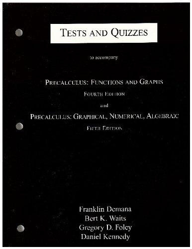Descargar Libro Tests And Quizzes Demana
