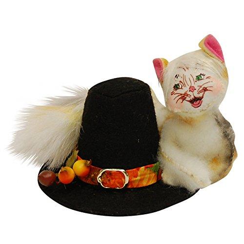 Annalee - 4in Pilgrim Hat Cat