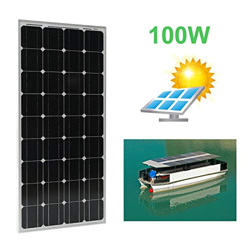 Peppydazi Portable Boat Car Solar Battery Charger 100W Moncrystalline Solar Panel Module