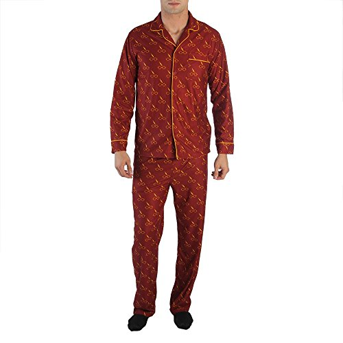 Harry Potter Glasses and Lightning Bolt All Over Print Men's Pajama Set - Potter Harry For Glasses Sale