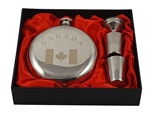 Canada Flask Gift Set by Palm City Products