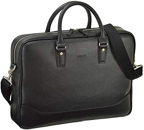 平野鞄 ビジネスバッグ ショルダーバッグ メンズ ブリーフケース B4 A4 ショルダー付き 通勤 ビジネス 黒 ブラック 横幅42cm +オリジナル高級ムートングローブ