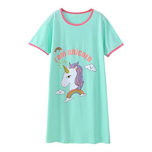 Nightie Nightgown - Girls' Unicorn Nightgowns Cotton Sleepwear Cartoon Nightie Cotton Size 7-8