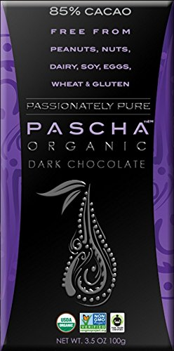 Pascha Organic Dark Chocolate, 85% Cacao, 3.5 Ounce