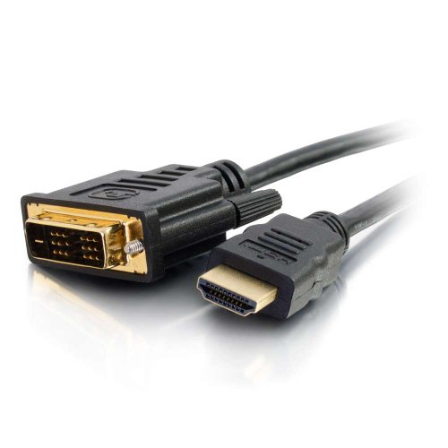 C2G 42516 HDMI to DVI-D Digital Video Cable, Black (6.6 Feet, 2 Meters)