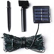 LED Solar String Lights Waterproof String Lights Outdoor 24V Fairy String 100 Lights Bulb Decorative for Home