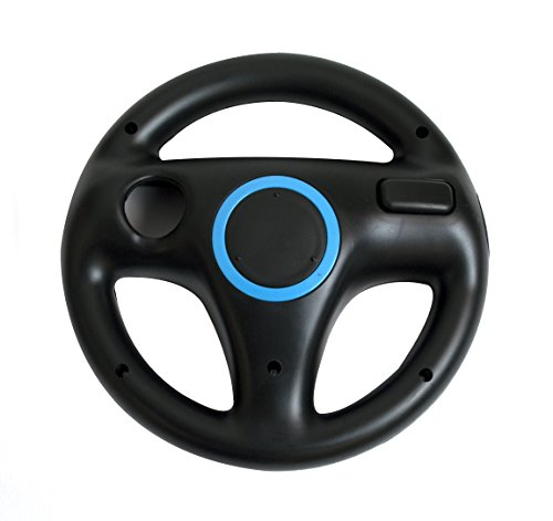 Beastron Mario Kart Racing Wheel for Nintendo Wii, 2 Sets Black Color Bundle