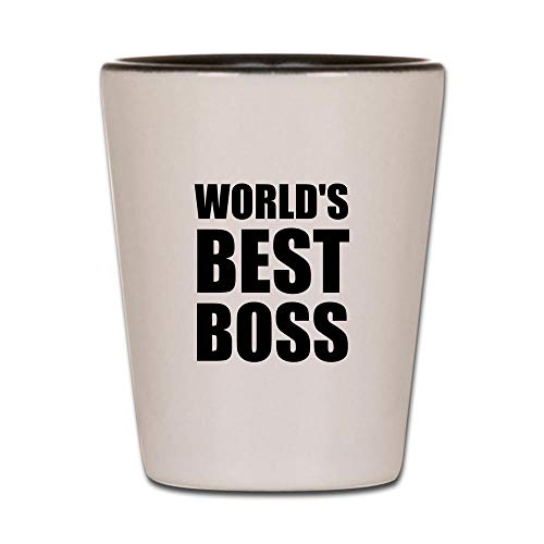 CafePress Worlds Best Boss 2 Shot Glass, Unique and Funny Shot - Pony Manager