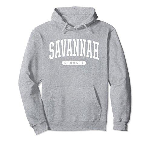 Unisex Savannah Hoodie Sweatshirt College University Style GA USA Large Heather - Ga Savannah Women