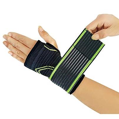 Pressurized Elastic Wrist Bandage Support Strap Wraps Hand Palm Support Wristbands Support Wrist Compression Wrist Pad Estimated Price £8.29 -