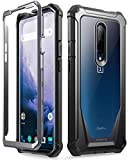 OnePlus 7 Pro Rugged Clear Case, Poetic Full-Body Hybrid Shockproof Bumper Cover, Built-in-Screen Protector, Guardian Series, Case for OnePlus 7 Pro (2019 Release), Black/Clear