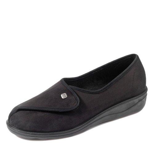 schwarz ROMIKA Hausschuhe 1 schwarz Pantoletten 340037 Damen qqatp