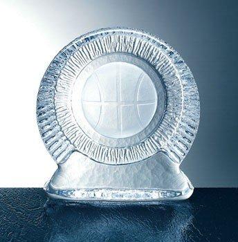 Molten Glass Basketball Iceberg Trophy