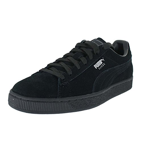 PUMA Men's Suede Classic + Low-Top Sneakers Black Size: 10 -