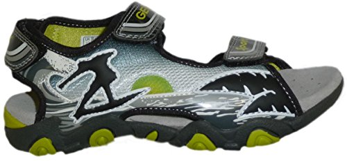 Geox - Sandalias de vestir de material sintético para niño negro - Schwarz/Bunt