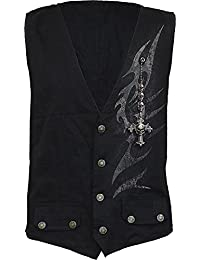 Spiral - SHADOW MASTER - Gothic Waistcoat Four Button with Lining