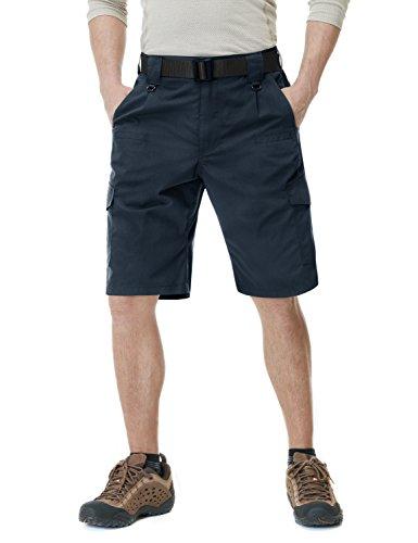 CQR Men's Tactical Lightweight Utiliy EDC Cargo Work Uniform Shorts, Tactical Shorts(tsp202) - Dark Navy, 30