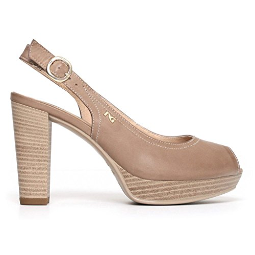 Women's Strap with Shoes Taupe Giardini Nero wqCOHKBCy