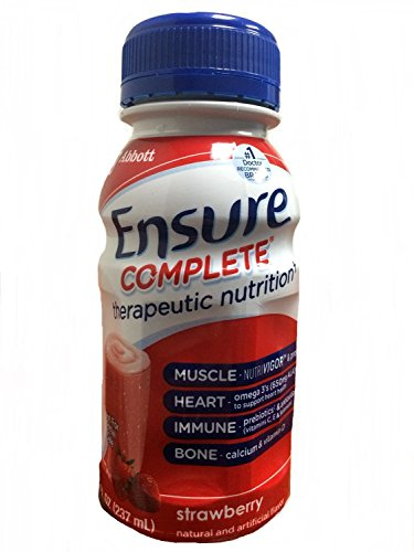 Ensure Complete Formerly Clinical Strength Strawberry 24 8-Fl-Oz-Bottle – 1 Case Of 24