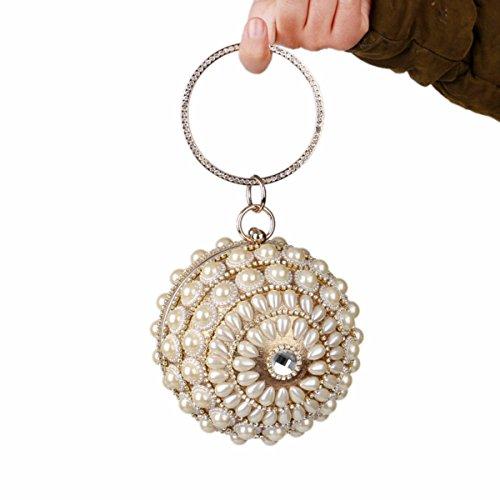 estrella la la bolso muchacha Black vestido bolso el XJTNLB La compras noche Golden de mismo señora el de bolso noche nueva perla la qc6SpO