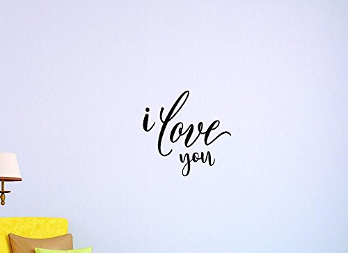 Black 12 x 30 Design with Vinyl US V SOS 1156 2 Top Selling Decals I Love You Wall Art Size 12 Inches X 30 Inches Color