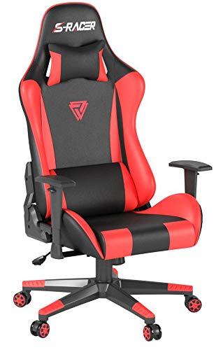 Homall Racing Gaming Chair Ergonomic High-Back Chair Premium PU Leather Bucket Seat,Computer Swivel...