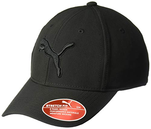 (PUMA Men's Evercat Dillon 2.0 Stretch Cap, Black, S/M)
