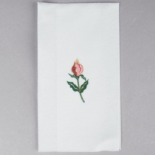 Hoffmaster 856515 Linen-Like Guest Towel, 1/6 Fold, 17'' Length x 12'' Width, Floral Mist (Case of 500)