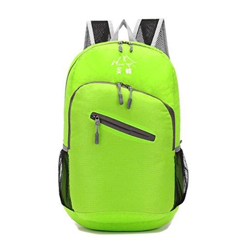 Wmshpeds Se puede acomodar bolso plegable impermeable alpinismo al aire libre mochila de viaje A