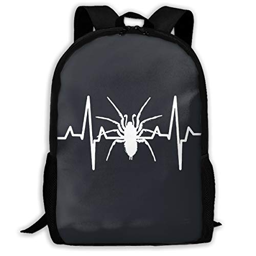 Spider Heartbeat Halloween Slim Business Backpack for Women & Men, Foldable and Handy for Camping Outdoor Sports Black