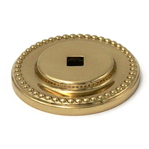 Polished Brass Belwith Knob - Backplate Polished Brass, 1 1/2