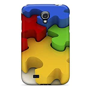 New Fashion Premium Tpu Cases Covers For Galaxy S4 - 3d Puzzle